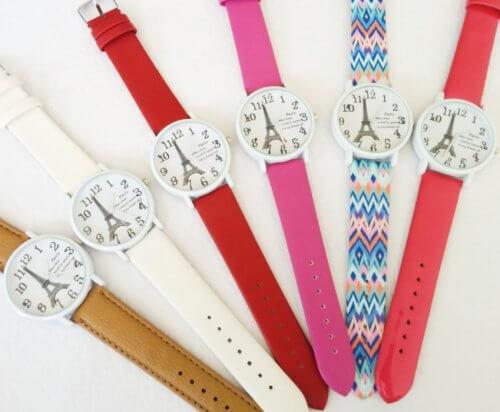 Reloj Cuero Mujer Paris Varios Colores - relojes mujer