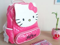 Morral Fucsia Hello Kitty - morral niña