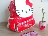 Morral Rojo Hello Kitty - morral niña