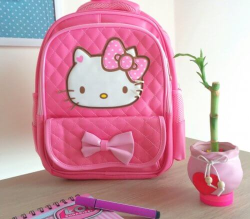 Morral Hello Kitty Rosado - bolsos niña