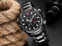 Reloj Doble Hora Negro Naviforce - relojes hombre