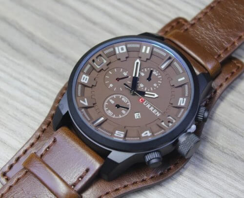 Reloj Hombre Curren Calendario Cafe - relojes hombre