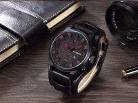 Reloj Hombre Curren Calendario Negro - relojes hombre
