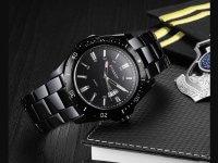 Reloj Curren Calendario Negro Acero - relojes hombre