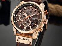Reloj Hombre Curren Cronografo Cafe - relojes hombre