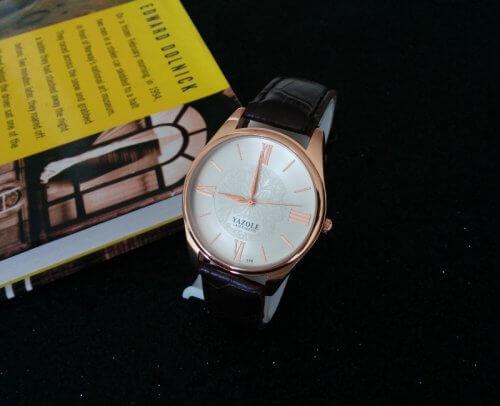 Reloj Hombre Yazole Cafe Oscuro - relojes hombre