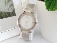 Reloj Mujer Malla Diamond Plateado - relojes mujer