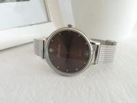 Reloj Mujer Malla Plateado Negro - relojes mujer