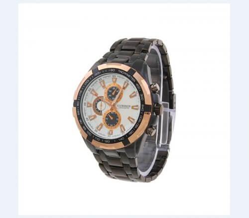Reloj Metalico Blanco Rose Curren - relojes hombre