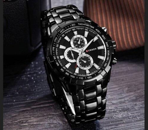 Reloj Metalico Negro Silver Curren - relojes hombre