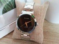 Reloj Mujer Plateado Fondo Negro - relojes mujer