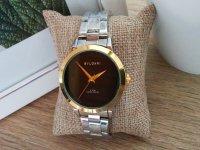 Reloj Mujer Plateado Marco Dorado - relojes mujer
