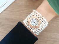 Reloj Mujer Pulsera Chaquira Blanco - relojes mujer