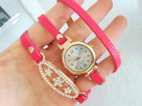Reloj Mujer Pulsera Cristal Fucsia - relojes mujer