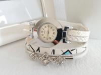 Reloj Mujer Pulsera Diamond Blanco - relojes mujer