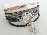 Reloj Mujer Pulsera Gris Zircon Sol - relojes mujer
