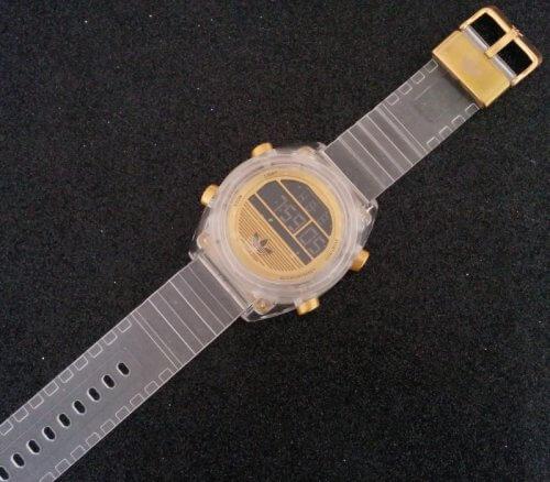Reloj Mujer Transparente Deportivo Gold - relojes mujer