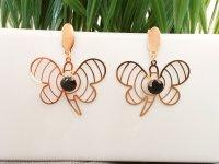 Aretes Mujer Acero Maxi Mariposa - aretes en acero
