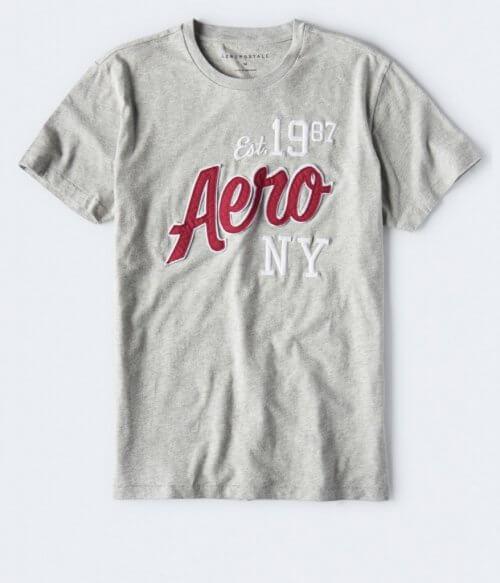 Camiseta Hombre Aeropostale Gris NY S - camisetas originales
