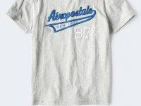Camiseta Hombre Aeropostale 87 Gris S - camisetas originales