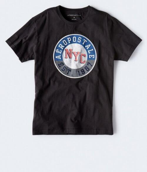 Camiseta Hombre Aeropostale Negra S - camisetas originales