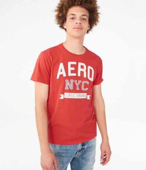 Camiseta Hombre Aeropostale Naranja S - camisetas originales