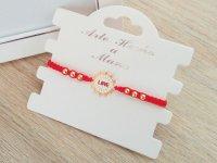 Pulsera Mujer Tejida Love Roja - pulseras mujer