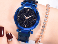 Reloj Mujer Azul Malla Iman Sky - relojes mujer