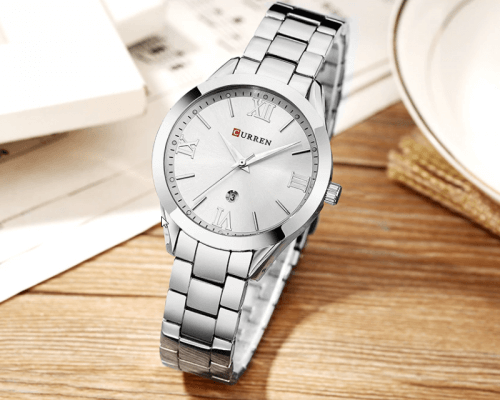 Reloj Mujer Curren Acero Silver Fecha - relojes curren