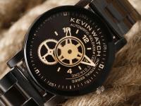 Reloj Unisex Kevin Negro Dial Circular - relojes kevin